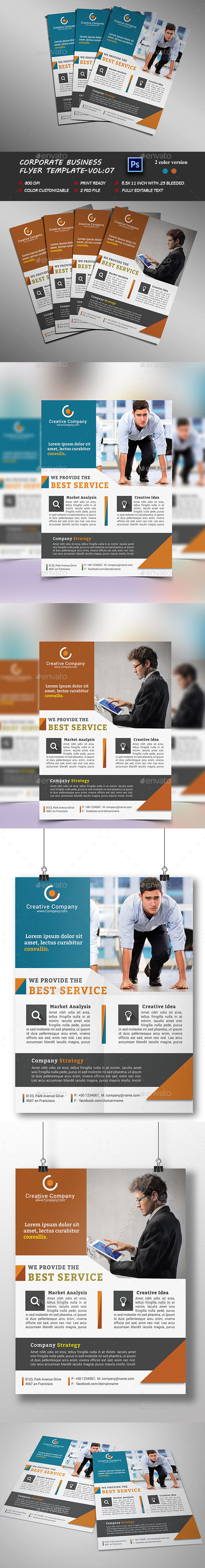 Corporate Business Flyer Template vol:07 - Corporate Flyers