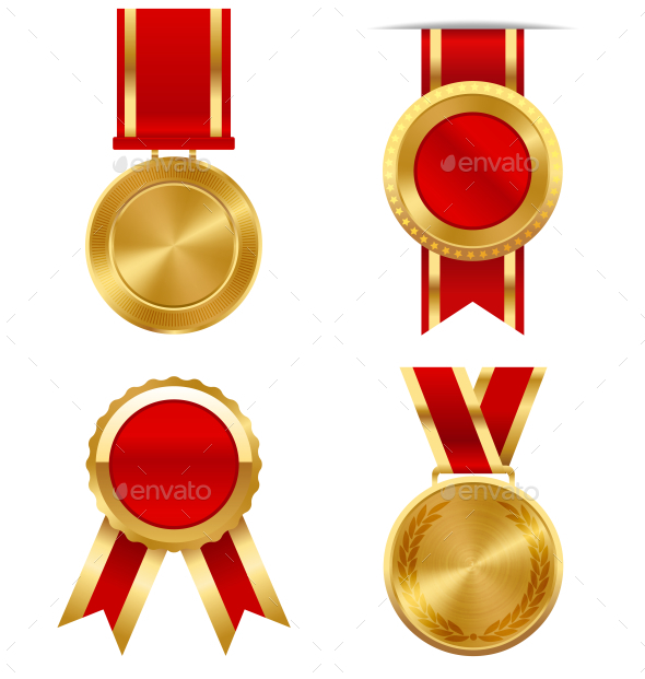 Golden Premium Quality Best Labels Medals - Decorative Symbols Decorative