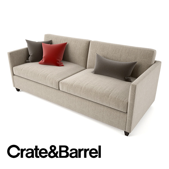 Crate and Barrel Dryden Apartment Sofa - 3DOcean Item for Sale