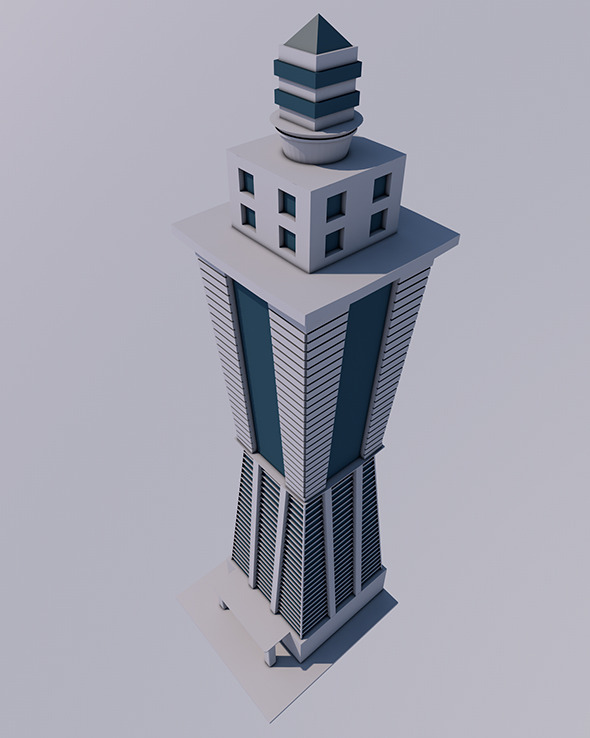 Low Poly Skyscraper Ready to Render