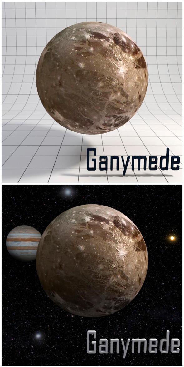 Ganymede - Realistic HD model - 3DOcean Item for Sale
