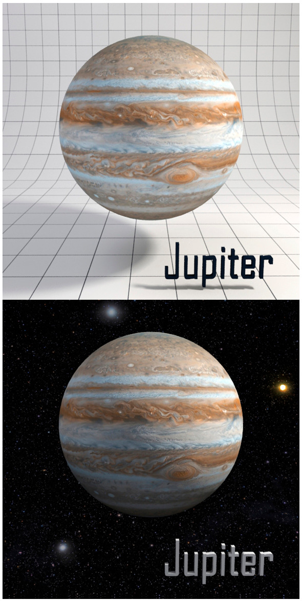 Jupiter - Realistic HD model - 3DOcean Item for Sale