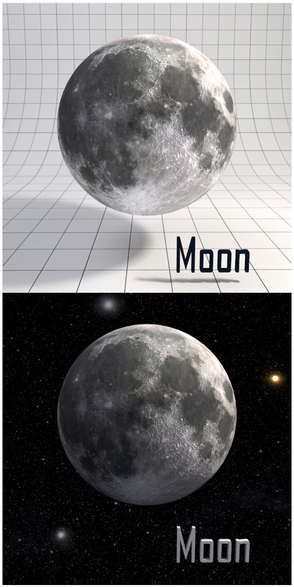 Moon Realistic HD model