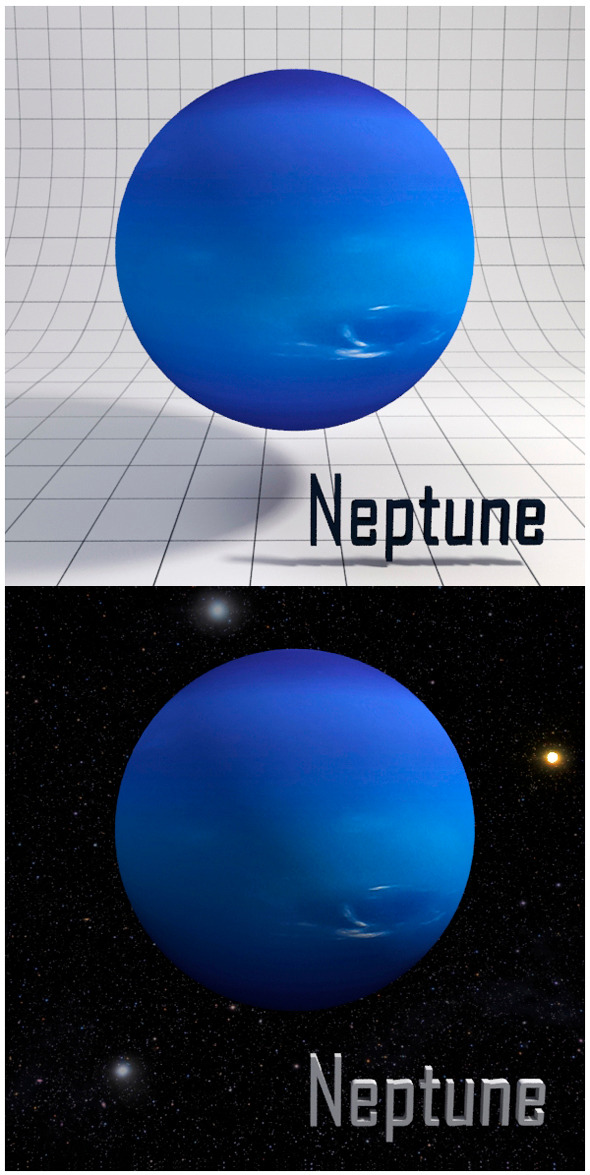 Neptune - Realistic HD model - 3DOcean Item for Sale
