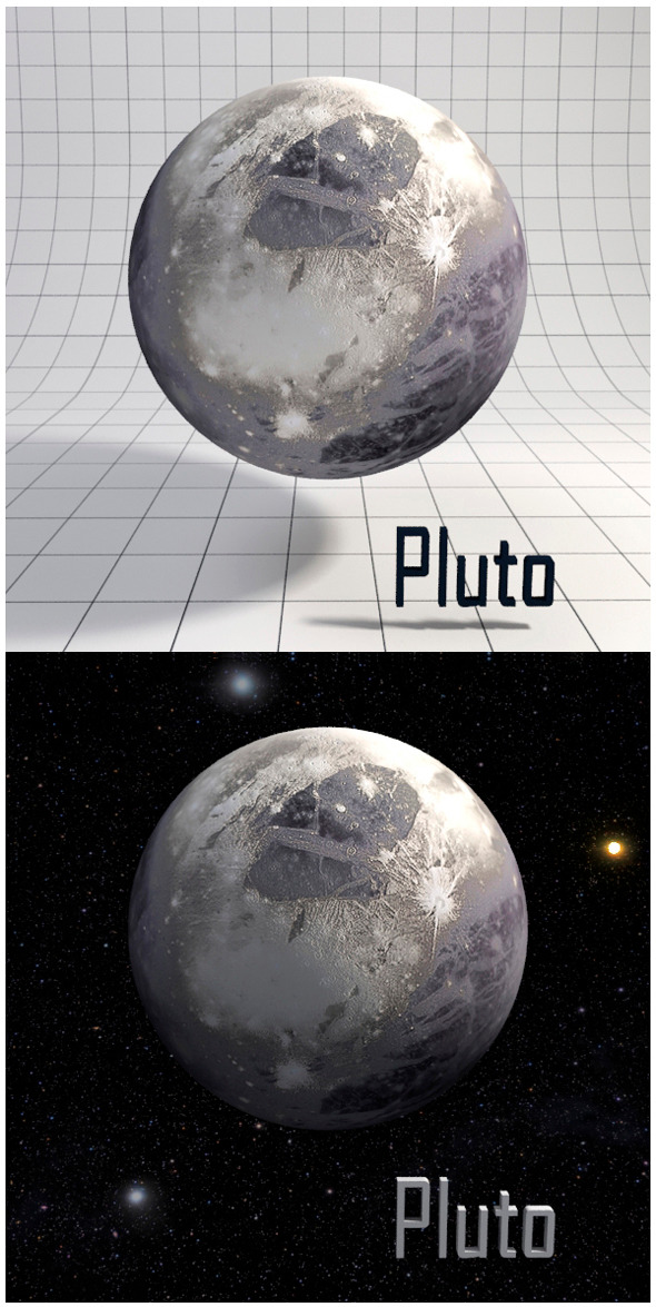 Pluto - Realistic HD model - 3DOcean Item for Sale