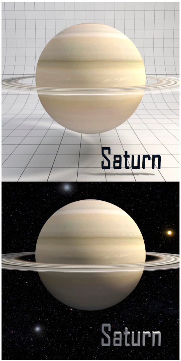 Saturn - Realistic HD model - 3DOcean Item for Sale