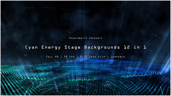 Cyan Blue Energy Stage Pack