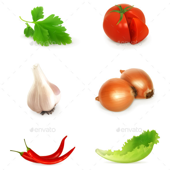Vegetables Vector Icons - Food Objects