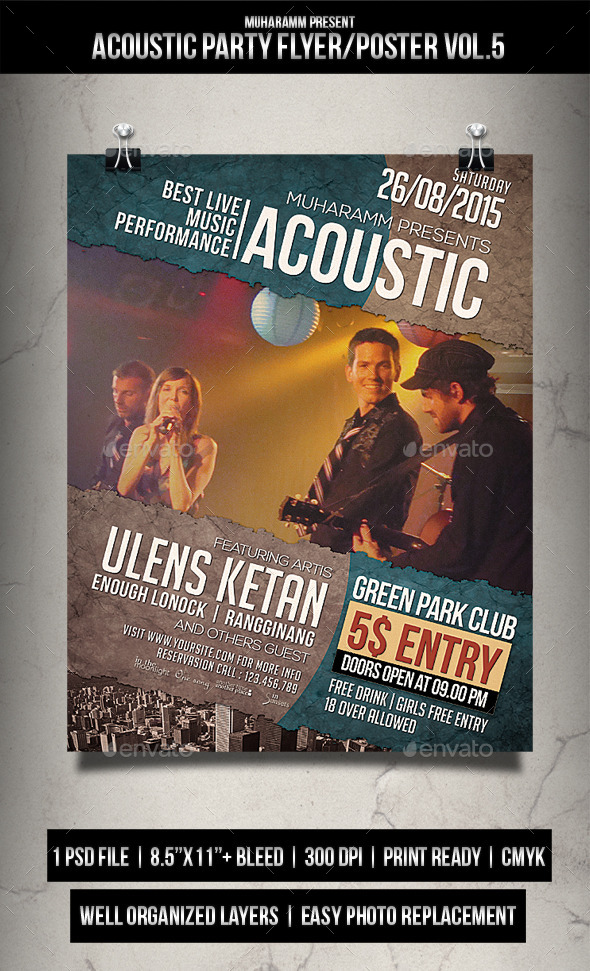Acoutic Party Flyer / Poster Vol.5 - Events Flyers