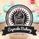 Retro Cupcake Badges - GraphicRiver Item for Sale