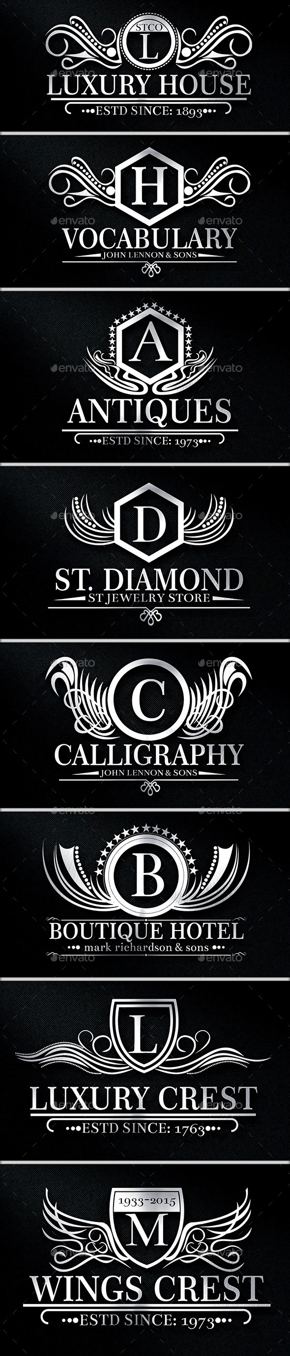 Luxurious Crest Logos Vol 9