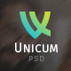 Unicum - One Page Fullscreen PSD Template Nulled