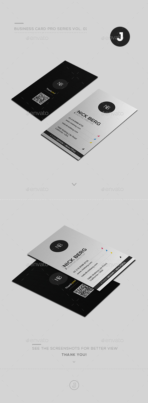 Business Card Pro Series Vol. 01 - Creative Business Cards