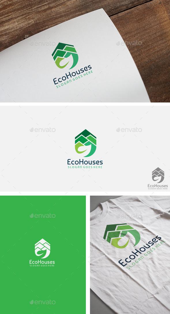 Eco Real Estate Logo - Buildings Logo Templates