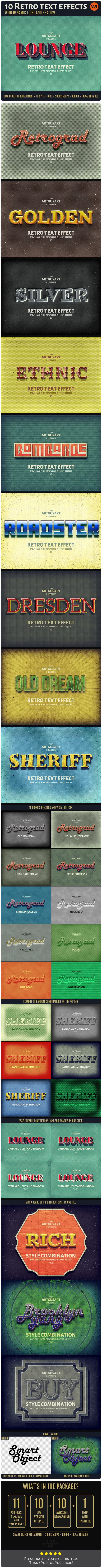 10 Retro Text Effect v.3 - Text Effects Actions