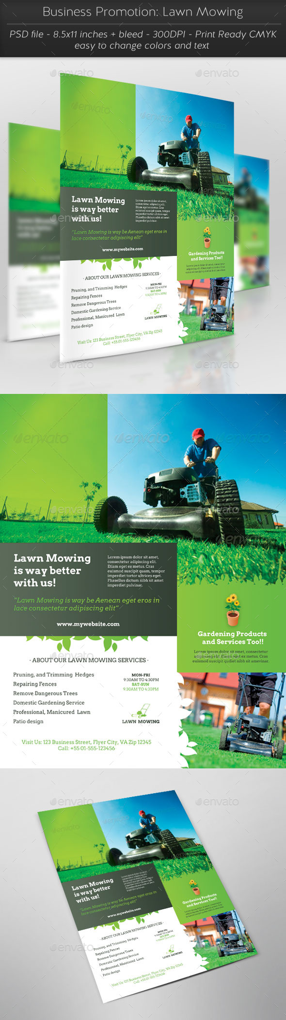 Business Promotion: Lawn Mowing - Commerce Flyers