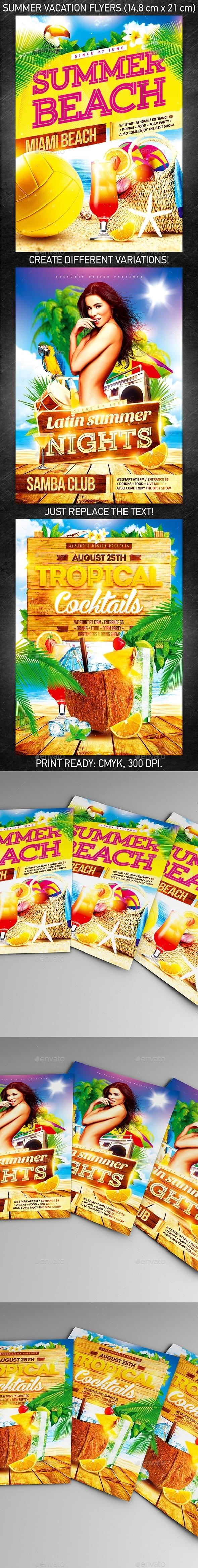 Summer Vacation Flyer Bundle vol.2