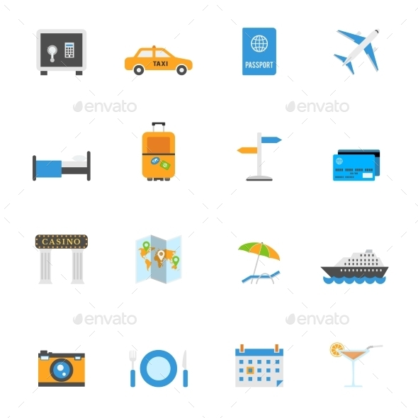 Travel and Tourism Icons - Travel Conceptual