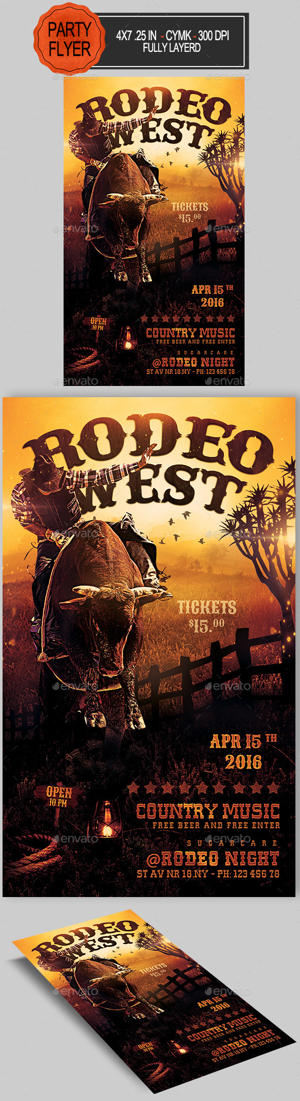 Rodeo Flyer - Clubs & Parties Events