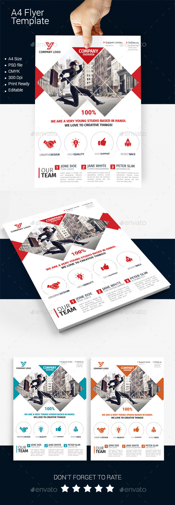 A4 Business Flyer Template 05  - Corporate Flyers
