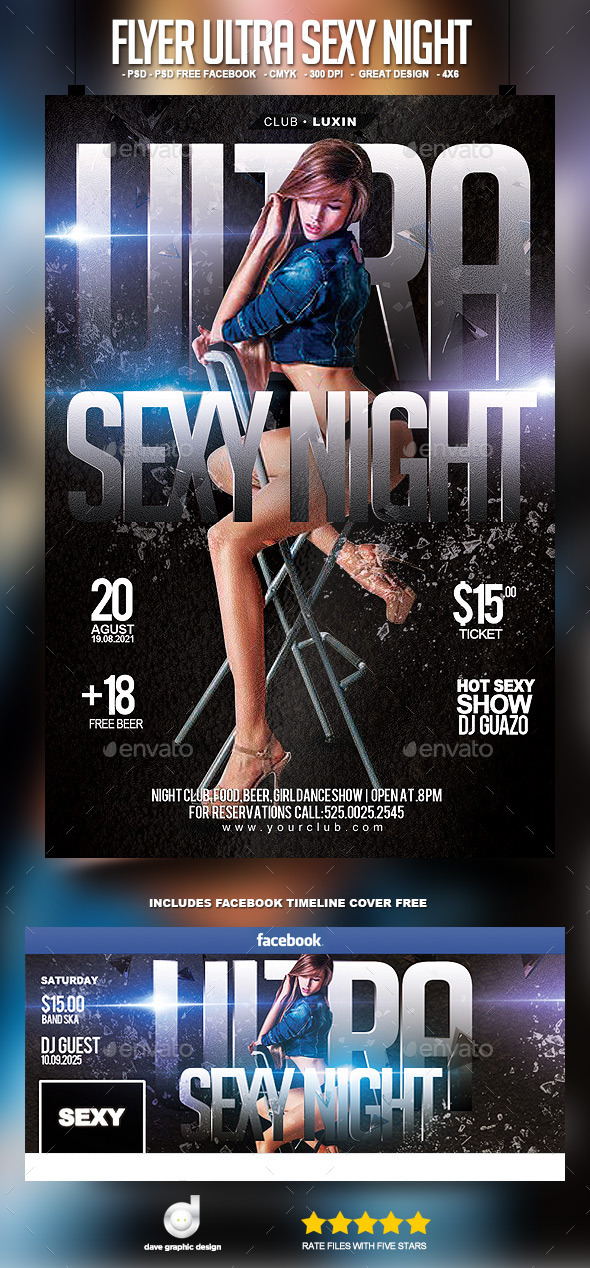 Flyer Ultra Sexy Night - Clubs & Parties Events