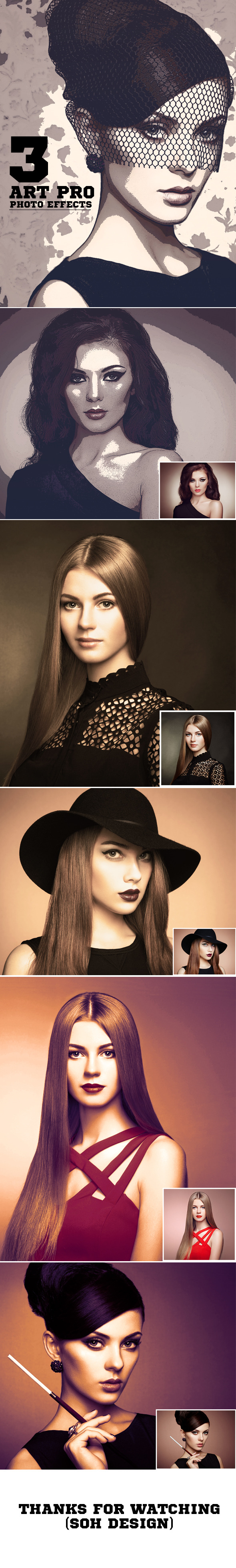 3-Art Pro Photo Effects - Photo Effects Actions
