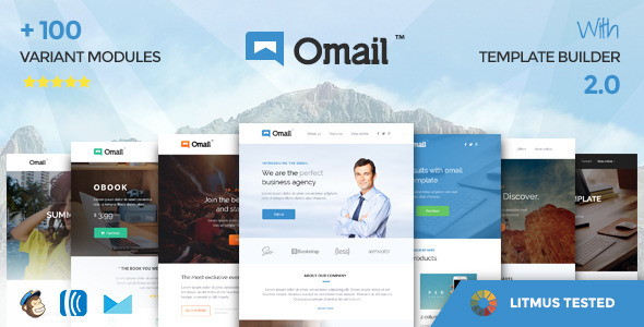 Omail –  Email Templates Set with Online Builder