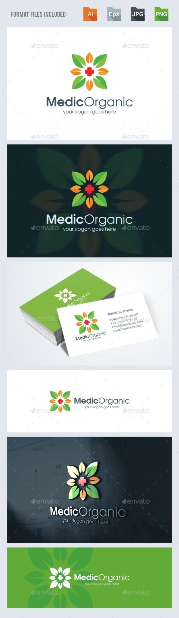 Medical Organic Logo Template