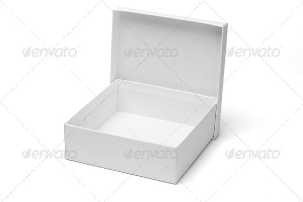 Open empty white gift box - Stock Photo - Images
