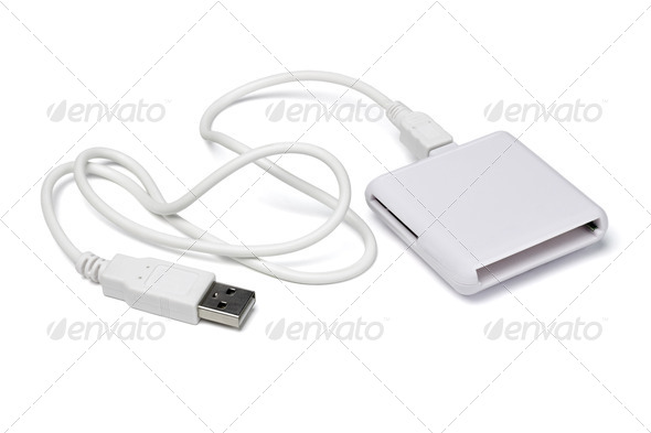 Universal memory card reader - Stock Photo - Images