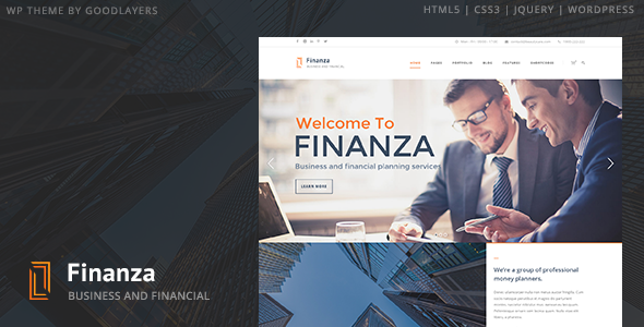 Finanza - Business & Financial WordPress Theme - Business Corporate