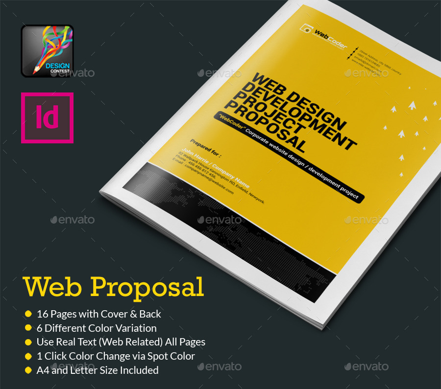 Web Proposal for Web Design Development Agency by ContestDesign – Proposal Cover Page Design