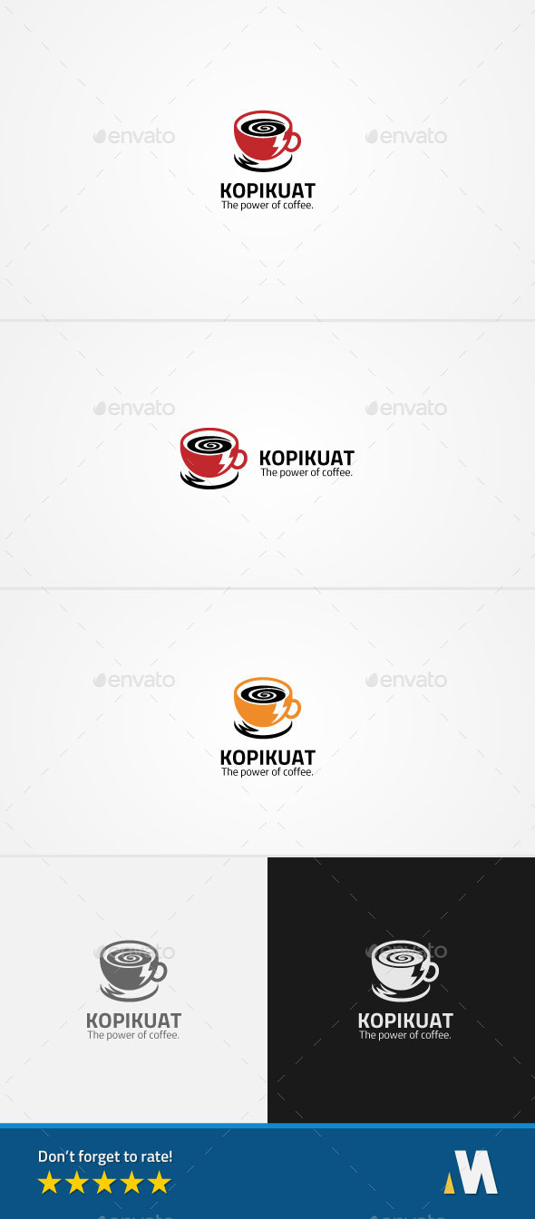 Power Coffee Energy - Symbols Logo Templates