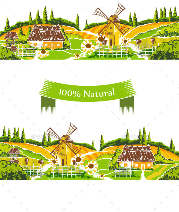 Rural Landscapes Vector  - Landscapes Nature