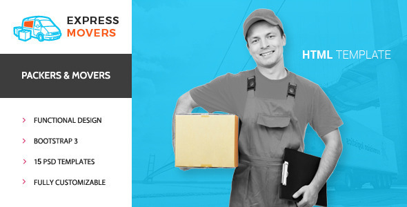 Express Movers - Moving Company HTML Template