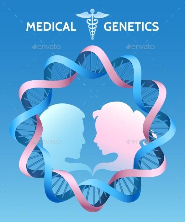 The Medicine Genetics - Health/Medicine Conceptual