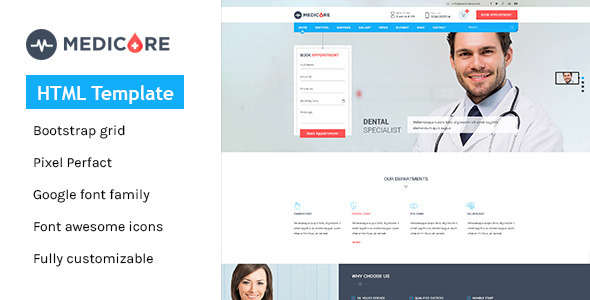 Medicare - Medical & Health HTML Template - Business Corporate
