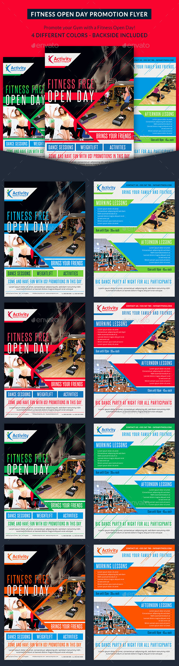 Fitness and Gym Open Day Promotion Flyer - Sports Events
