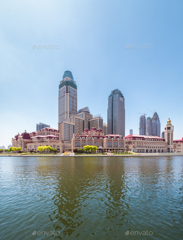 tianjin jinwan plaza closeup - Stock Photo - Images