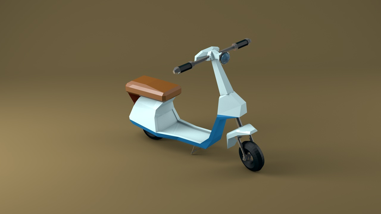 Low Poly Bike Motorcycle By Awesomeelf 3docean