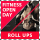 Fitness and Gym Open Day Promotion Roll Up Banners - GraphicRiver Item for Sale