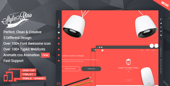 StyleRino – MultiPurpose Portfolio Muse Theme