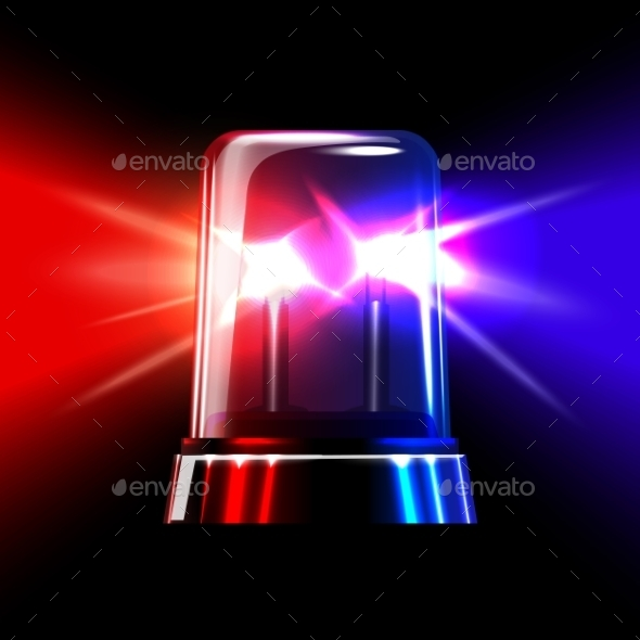 Red and Blue Emergency Flashing Siren