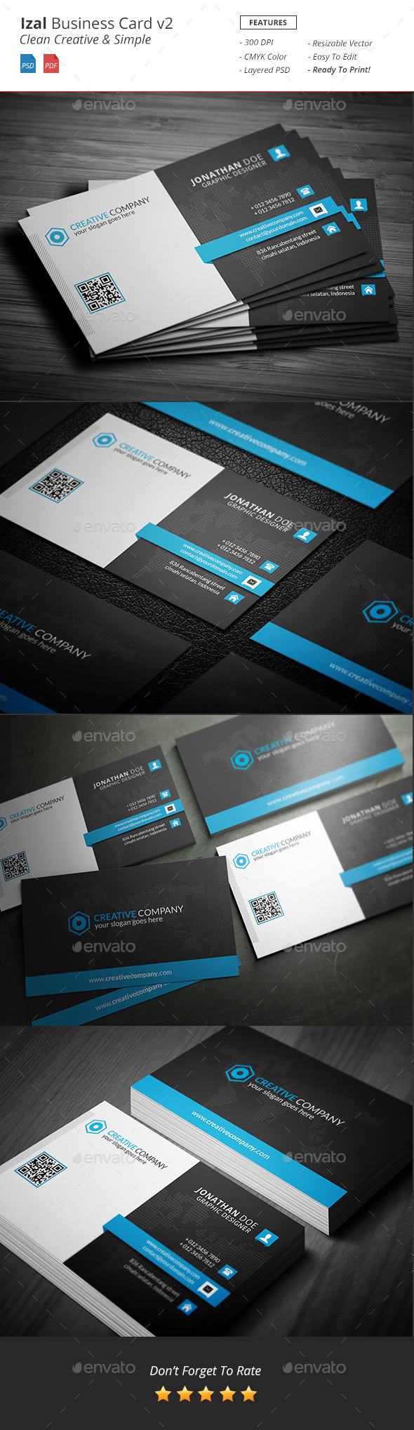Izal - Clean Creative Bussiness Card v2 - Creative Business Cards