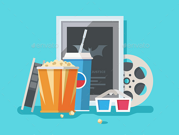 Cinema Accessories - Objects Vectors