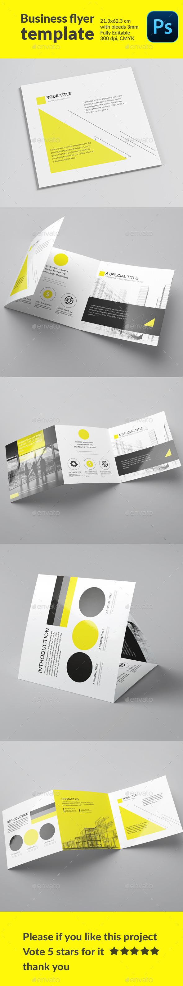 Flyer Template Engineering Yellow - Corporate Brochures