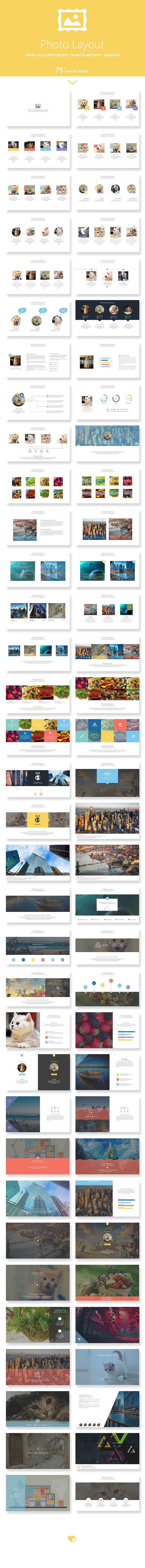 Photo Layout Powerpoint Presentation Template - Creative PowerPoint Templates