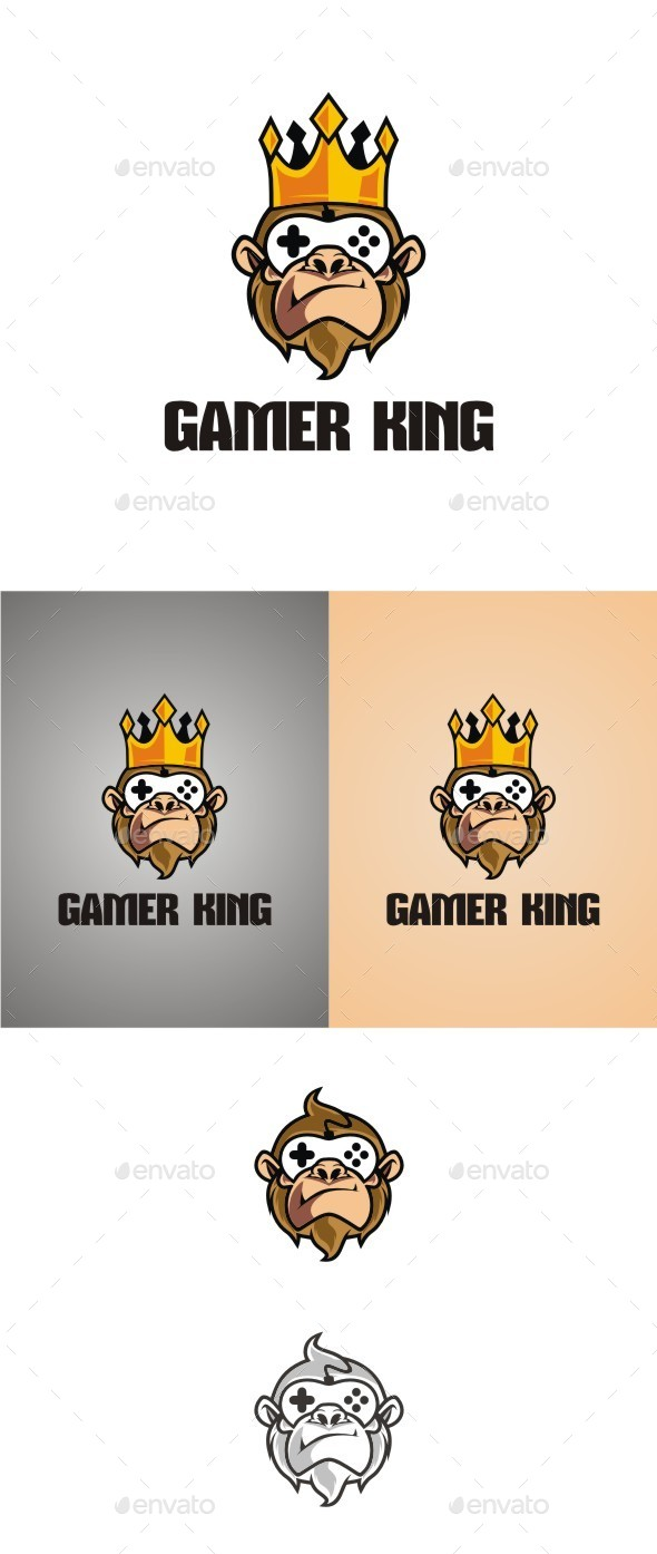Gamer  King - Animals Logo Templates