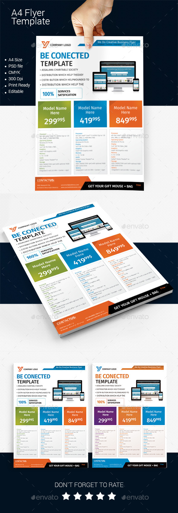 A4 Business Flyer Template 06 - Corporate Flyers