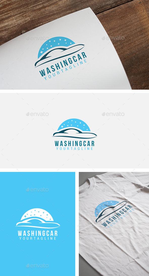 Washing Car Logo - Objects Logo Templates